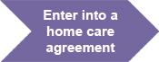 Enter into a home care agreement