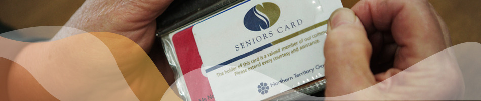Hands holding a Senior's Card