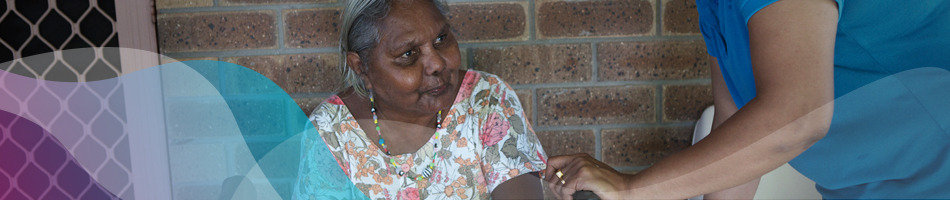 Elderly Aboriginal and/or Torres Strait Islander woman and her carer