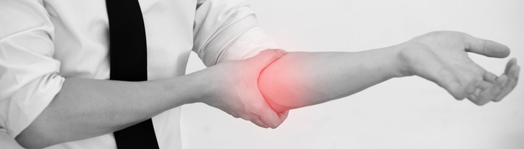 Elbows are a common site for bursitis.