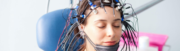 EEG is a test that measures the electrical activity of your brain by using electrodes attached to your head.