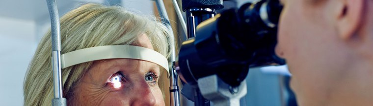Regular eye tests can help make sure your eyes are in good health.