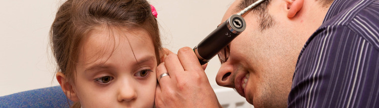Glue ear is common in young children.