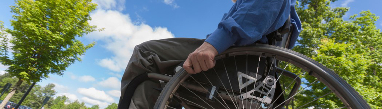A wheelchair may be used by people with muscular dystrophy.