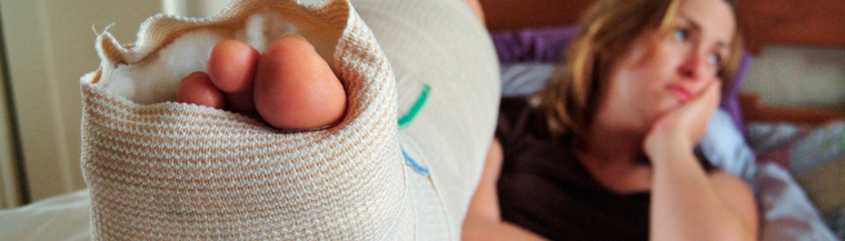 A broken bone or other injury can lead to osteomyelitis.