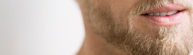 Man with facial hair.