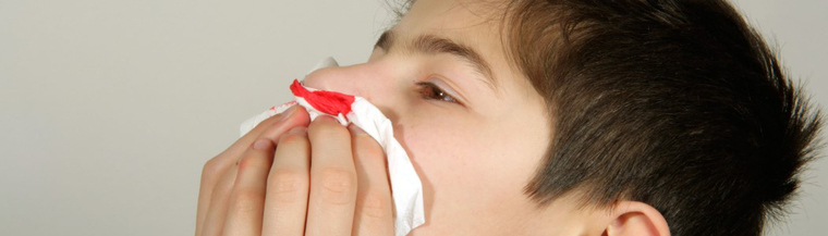 People with thrombocytopaenia can have frequent nosebleeds.