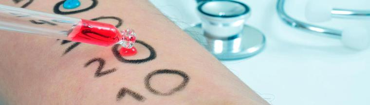 Skin prick test is one of the most common allergy tests.