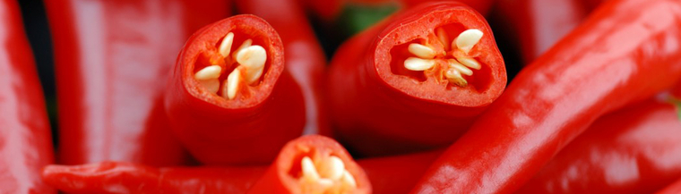 Eating chillies can trigger heartburn.