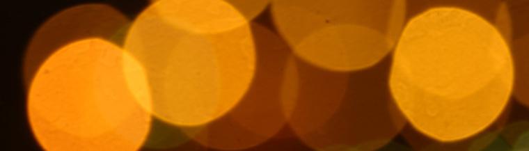 Blurred lights.