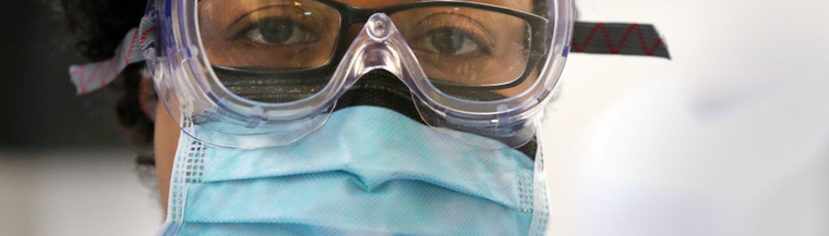 Protection is required when examining people infected with the ebola virus.