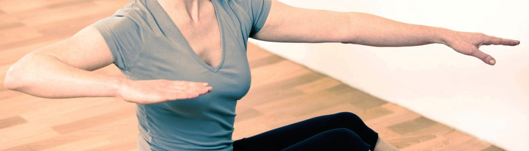 Light exercise including yoga and Pilates can help improve posture.