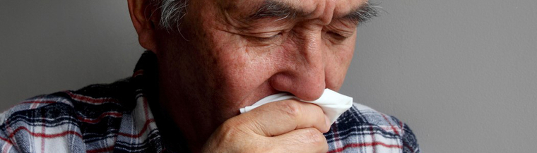 Cough is a common symptom for colds and the flu.