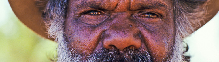Senior indigenous man
