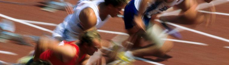 Men's sprinting race.