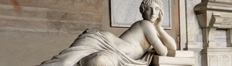 Image of reclining woman statue to illustrate the concept of vaginal problems.