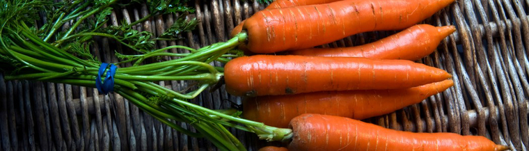 Carrots are a source of vitamin A.