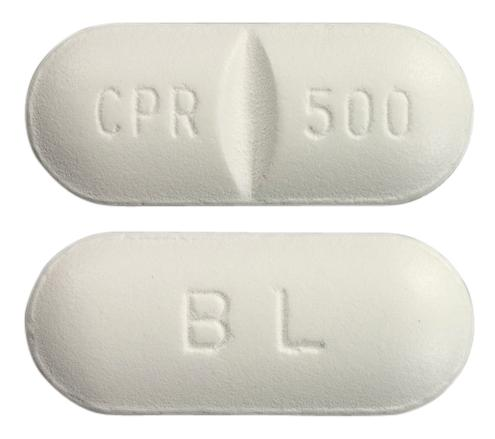 view of Ciprofloxacin (BW)