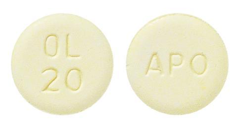 view of Olanzapine ODT (Apo)