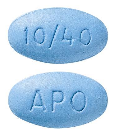 view of Amlodipine/Atorvastatin 10/40 (Apo)