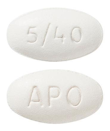 view of Amlodipine/Atorvastatin 5/40 (Apo)