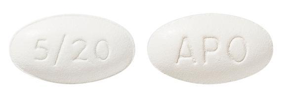 view of Amlodipine/Atorvastatin 5/20 (Apo)