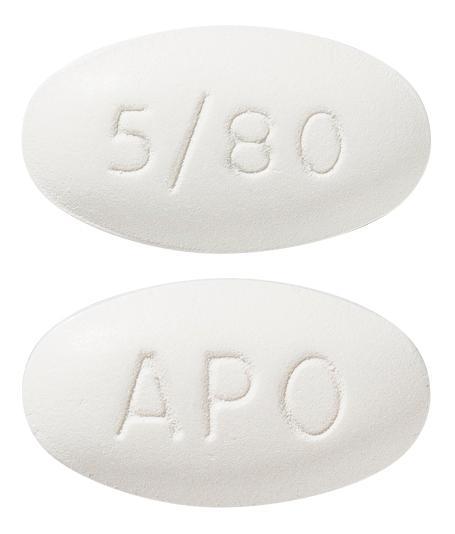 view of Amlodipine/Atorvastatin 5/80 (Apo)