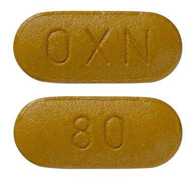 view of Targin 80/40 mg