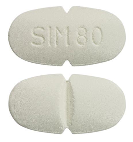 view of Simvastatin (Sandoz)